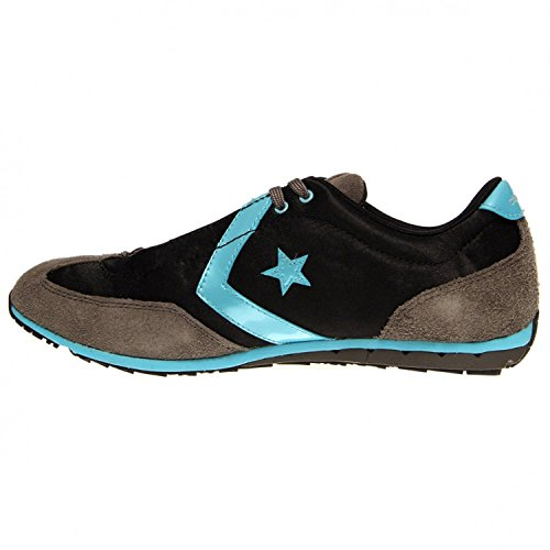 Converse Women's Revival Ox Casual Shoe Black, Gray, Turquoise (9.5)