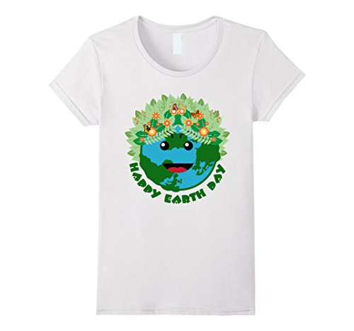 Amazon.com: Happy Earth Day - Planet Earth Smiling Face T-shirt: Clothing