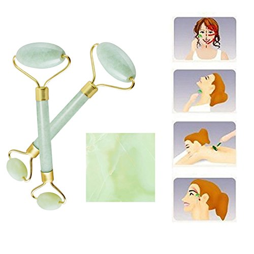 Denshine 2pcs Natural Jape Roller Facial Beauty Massage T...