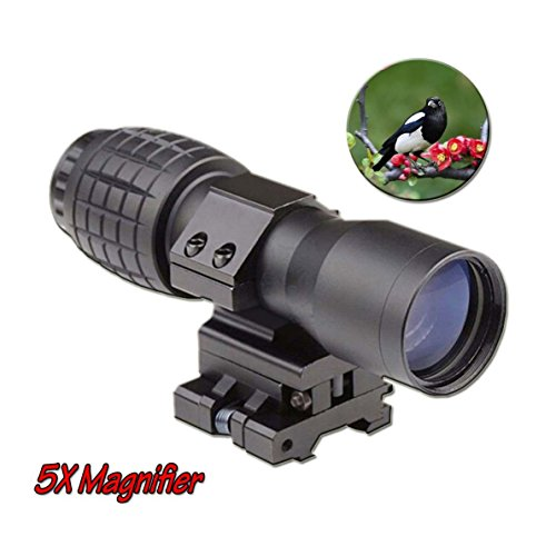Zinnor 5X Magnifier Scopes FTS Flip To Side for Eotech Aimopint or Similar Scopes B for Watching,Hunting,Camping - Outdoor Travel Magnifier (FBA Delivery)