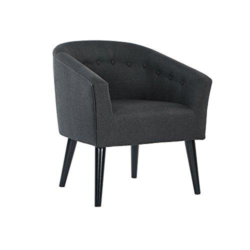 Camilla Fabric Set (DAGONHIL Camilla Barrel Back Accent Chair Charcoal Fabric Arm Chair)