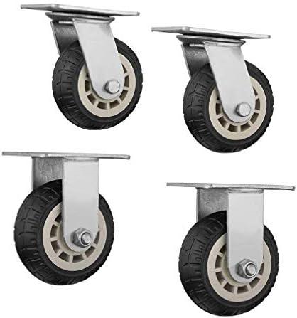 頑丈な足車360度の交換の車輪のゴム製ミュートローラー頑丈な旋回装置の足車、3つのサイズ、複数の仕様