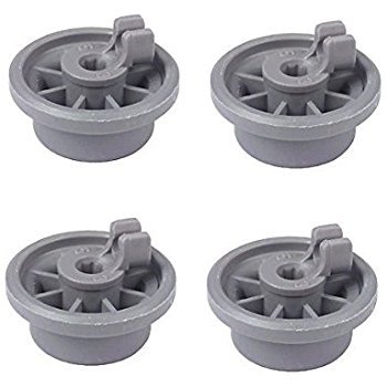 EXP165314 [ 4 PACK ] Bosch Dishwasher Lower Rack Roller (Replaces 165314, 00165314, 00420198, AP2802428, PS8697067 ) For Bosch, Kenmore, Gaggenau, Thermador Dishwashers