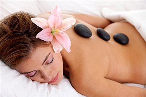 Aboval 20Pcs Professional Massage Stones Set Natural Lava Basalt Hot Stone for Spa, Massage Therapy by Aboval (Image #9)