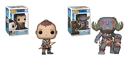 Funko POP Games God of War: Atreus and Fire Troll Toy Action Figures - 2 Piece BUNDLE