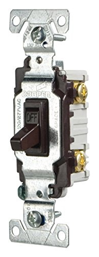 Eaton CSB115STB-SP-L 15-Amp, 120/277-Volt/AC Commercial Specification Grade Single Pole AC Toggle Switch, Brown ()