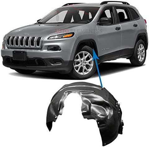 - Left Splash Shield Go-Parts OE Replacement for 2014-2016 Jeep Cherokee Front Fender Liner Driver 68209679AE CH1248163 for Jeep Cherokee