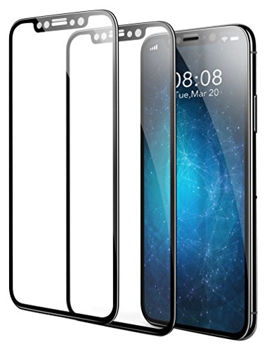 iPhone X Screen Protector Black Edge, Vontox (2 Packs) iPhone X Tempered Glass Screen Protectors 5.8 inch 3D Touch for Apple iPhoneX 2017