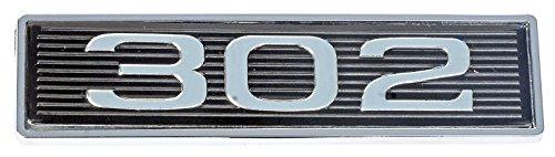 (Mustang 302 Classic Hood Scoop Shaker Emblem in Chrome & Black)