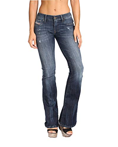 Diesel - Women's Jeans Livier-Flare 668F - Super Slim Flare - Blue, W24 / (Diesel Flare Jeans)