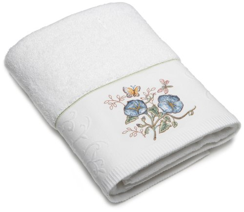 Butterfly Meadow Embroidered Hand Towel