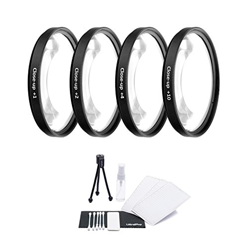 46mm Digital Pro High-Resolution Close-Up Macro Filter Set (+1, 2, 4, and +10 Diopters) with Filter Carry Case for Select Panasonic Digital Cameras. UltraPro Deluxe Accessory Set Included
