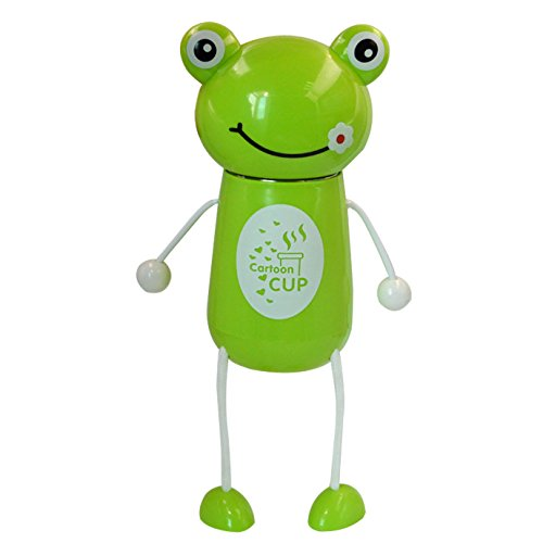 Frog Cartoon Animal (Mily Creative Animal Cartoon Fashionable Vacuum Insulated Stainless Steel Thermos Water Bottle Frog)