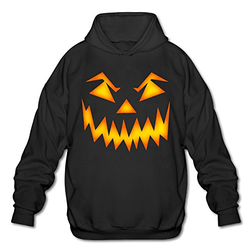 SAMMOI Pumpkin Face Halloween 1 Men's Soft Long Sleeve Hoodie S Black -