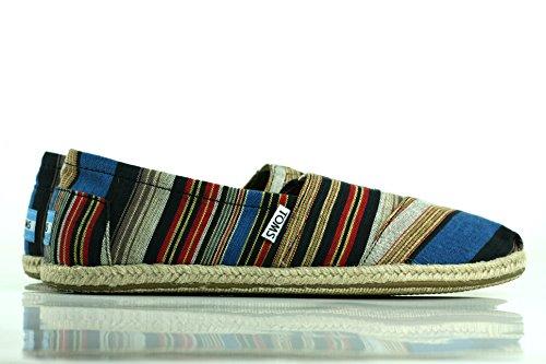 7c605012b0c Toms - Mens Slip-On Shoes In Blue Vintage Stripe