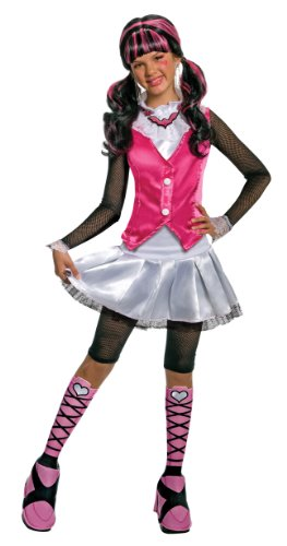 [Monster High Deluxe Draculaura Costume - Large] (Draculaura Kids Costumes)
