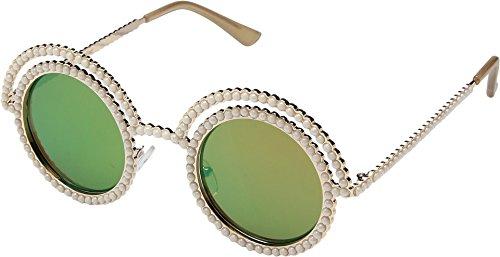 Betsey Johnson Women's BJ485207 Gold One - Sunglasses Pearl