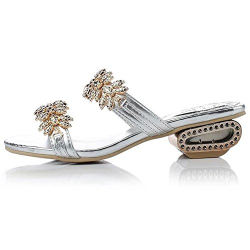 Escarpins femme peep silver SUNAVY toe qOdpxpwCg