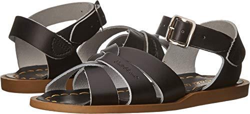 Salt Water Sandals by Hoy Shoe Original Sandal (Toddler/Little Kid/Big Kid/Women's), Black, 12 M US Little - Girls Black Leather