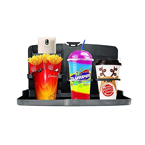 VaygWay Black Car Food Drink Toys Meal Tray Cup Holder Automotive ()