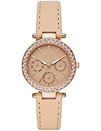 Marais Multifunction Nude Leather Watch