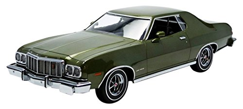 Greenlight Collectibles Artisan Collection 1976 Ford Gran Torino Metallic Vehicle (1: 18 Scale), Dark Green