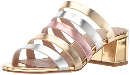 BCBG Generation Women's Frankie Sandal, Metallic/Multi, 8.5 M US