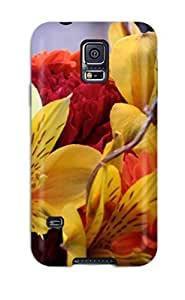 High Quality Valerie Lyn Miller Fall Flowers Skin Case Cover Specially Designed For Galaxy - S5