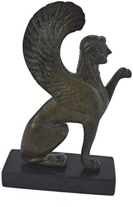 Sphinx'sculpture ancient Greek miniature reproduction'statue