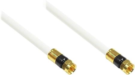 Good Connections - Cable de antena para televisión por satélite (conector F macho a conector F macho, conectores dorados, apantallado en 5 capas, ...