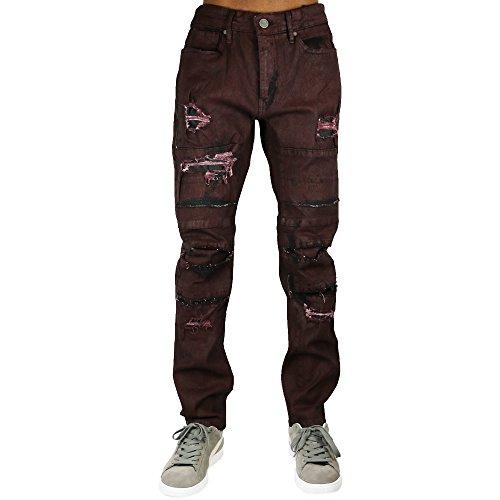 Jordan Craig Coated Jeans Wine by Jordan Craig