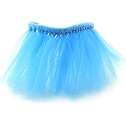 Scheppend Christmas Holiday Pet Tulle Tutu Skirt Ballet Bubble Tutu Dress for Dogs Cats Princess Costumes, Blue S