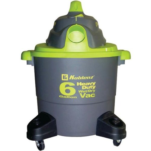 1 - Wet/Dry Vacuum Cleaner with 6-Gallon Tank, Heavy-duty, h