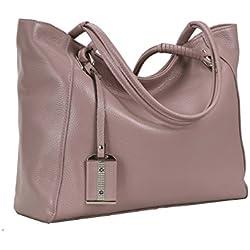 Kenoor Women Handbags Shoulder Bags Tote Leather Bag Satchel Purses on Clearance (Lilac)