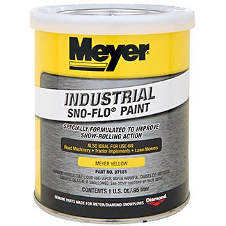 Meyer PLOW Yellow SNO-FLO Paint 07181-1 QT by Meyer