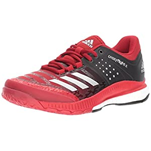 adidas Women's Shoes Crazyflight X Volleyball Shoe Black/Metallic Silver/Power Red,8