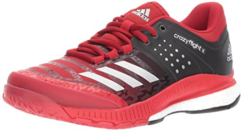 adidas Women's Shoes Crazyflight X Volleyball Shoe Black/Metallic Silver/Power Red,7.5 by adidas