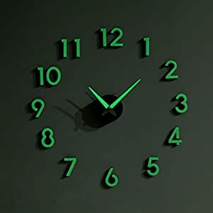 Amazon Com Nightglow Wall Clock Decorative Wall Clocks