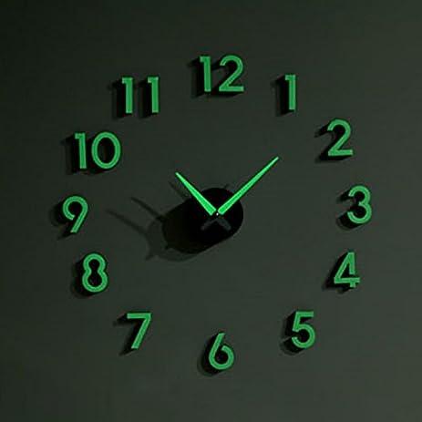Amazoncom Nightglow Wall Clock decorative wall clocks Glow in