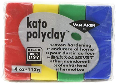 (Van Aken International VA12140 Kato Polyclay, 4 Ounce Set, Yellow)