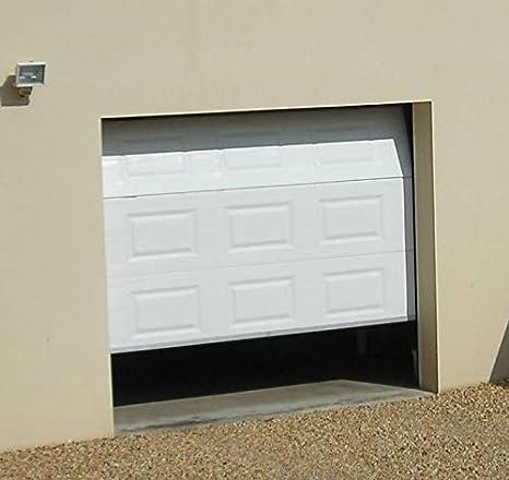 Clausa Puerta de Garaje motorisable, Acero, Color Blanco, 10 ...