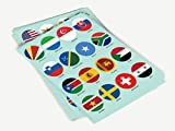 World Flags Stickers - 224 Countries and Regions