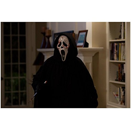 Scream 4 (2011) 8 inch by 10 inch PHOTOGRAPH Ghostface in Livingroom Mask Splattered w/Blood -