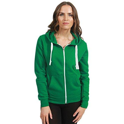 Felpa Malaika Basic Donna Maniche Cappuccio Lunghe Green Jade Con faHvPaZO