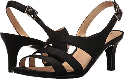Black Fabric Womens Shoes - Naturalizer Women's Taimi Dress Sandal, Black, 7.5 W US