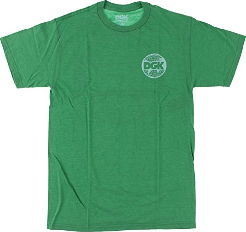 DGK World Wide T-Shirt [Medium] Kelly Green Heather by DGK