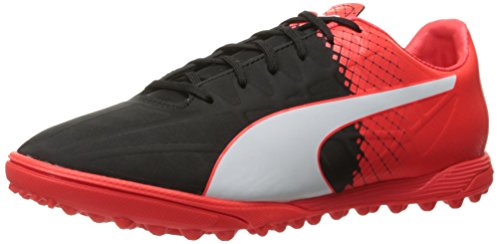PUMA Men's Evospeed 4.5 Tricks TT Soccer Shoe, Black White, 10.5 M US