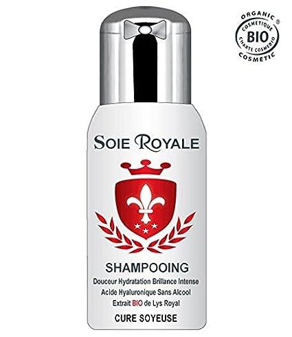Soie Royale Bio Cure Soyeuse Champú ecológico 300 ml, hidratante, regenerante y rejuvenecedor,