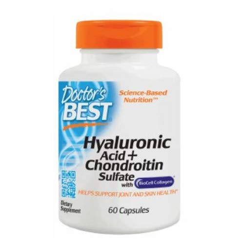 (Best Hyaluronic Acid with Chondroitin Sulfate, 100 mg, 60 caps by Doctors Best (Pack of 6))