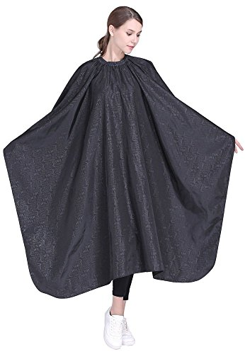 Barber Salon Hair Cutting Cape,Professional Hair Styling Smock -Black by Perfehair